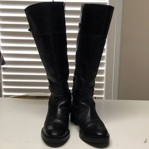 Enzo Angiolini black riding boots